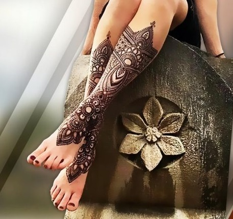 dark hard black arabic mehndi design full