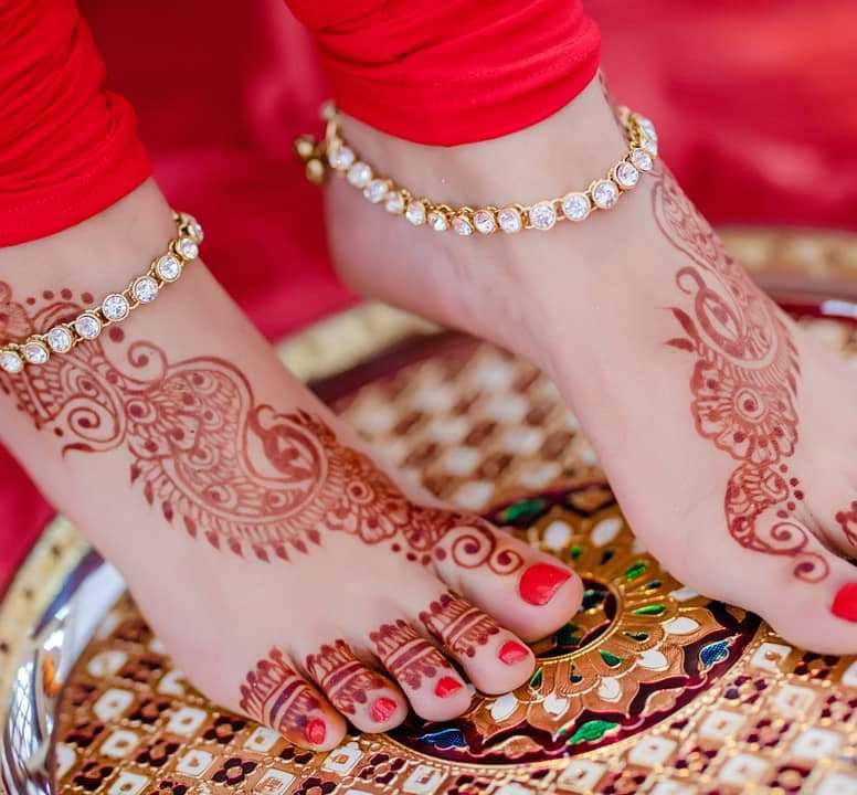 foot mehndi designs for wedding