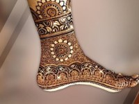 full feet henna design arabic easy and simple