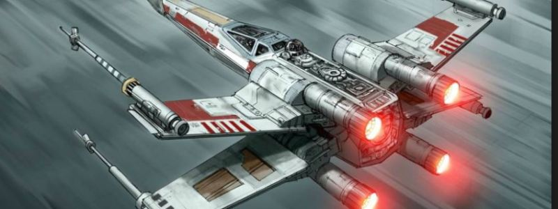 Star Wars R2d2 X Wing air scene red lights