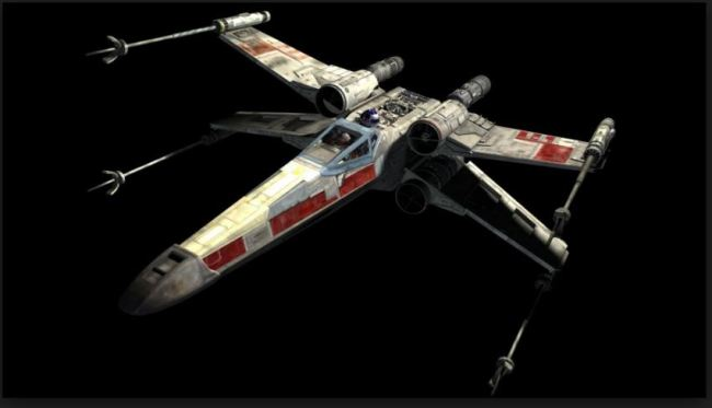 Star Wars R2d2 X Wing for iPhone mobile