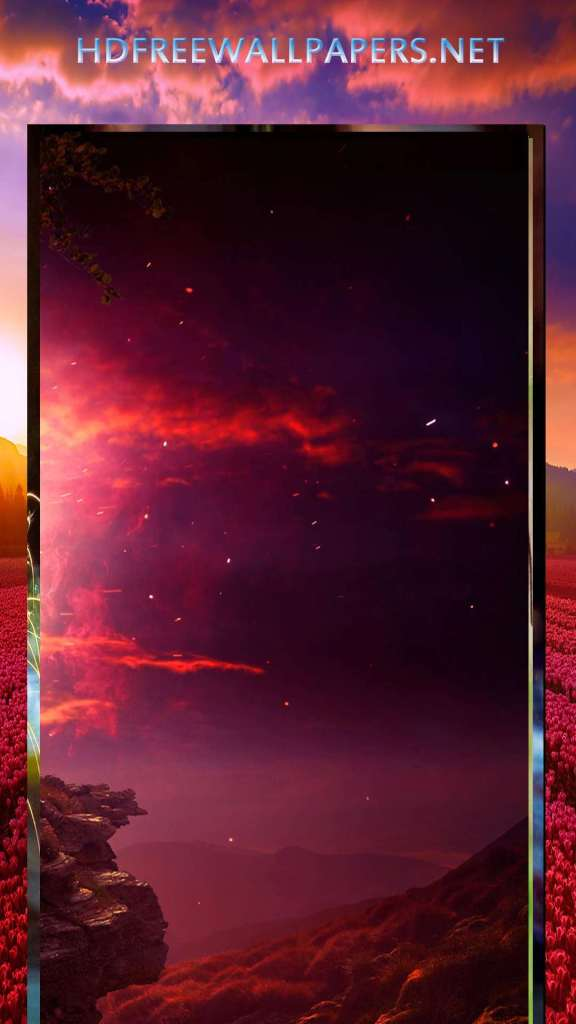dark red evening sad love wallpaper for mobile phone