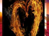 heart sign with fire beautiful love wallpapers