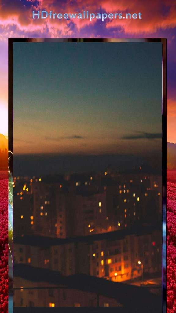 night view from top wallpaper for phone