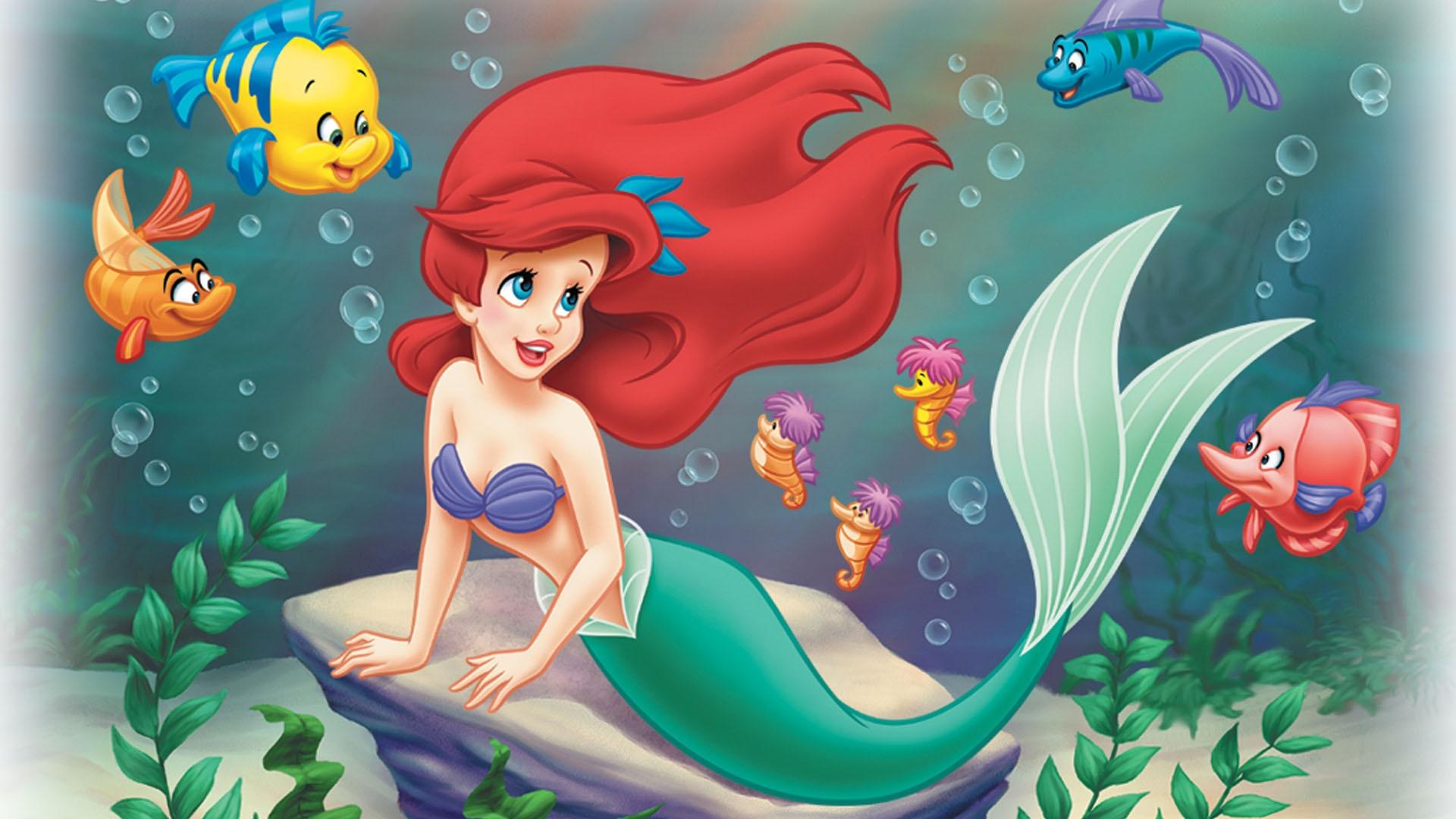 HD Hintergrundbilder Fisch Fabius Disney Arielle Die