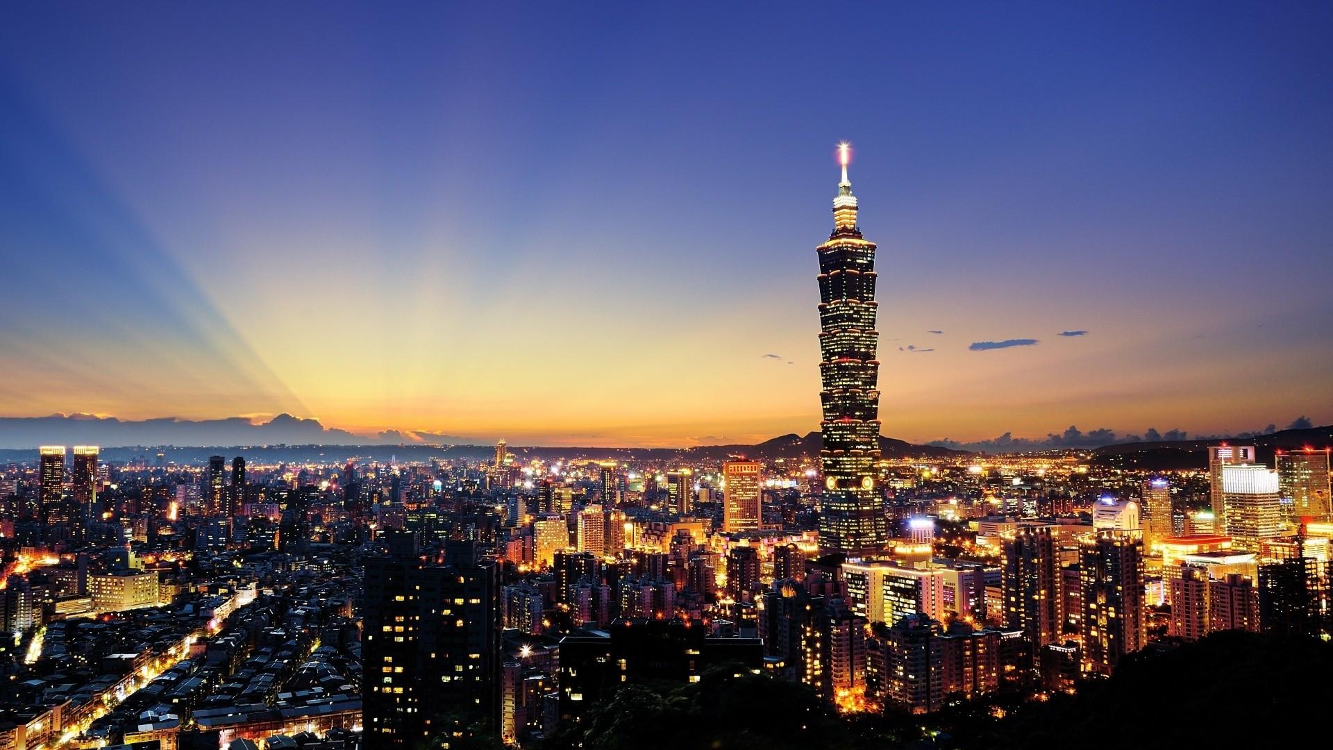 Hd Hintergrundbilder Stadt Beleuchtung Nacht Wolkenkratzer