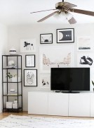 41 DIY TV Gallery Wall Inspirations & How Tos 12