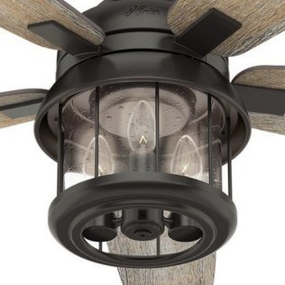 44 Bennett 5 Blade Ceiling Fan With Remote, Light Kit Included 12