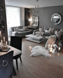 55 Black And Gray Living Room Decorating Ideas 2020 26
