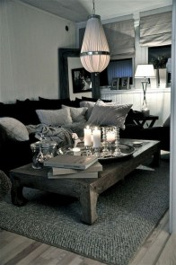 55 Black And Gray Living Room Decorating Ideas 2020 27