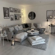 55 Black And Gray Living Room Decorating Ideas 2020 50