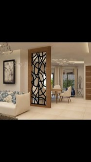 56 Astonishing Partition Design Ideas For Living Room 7