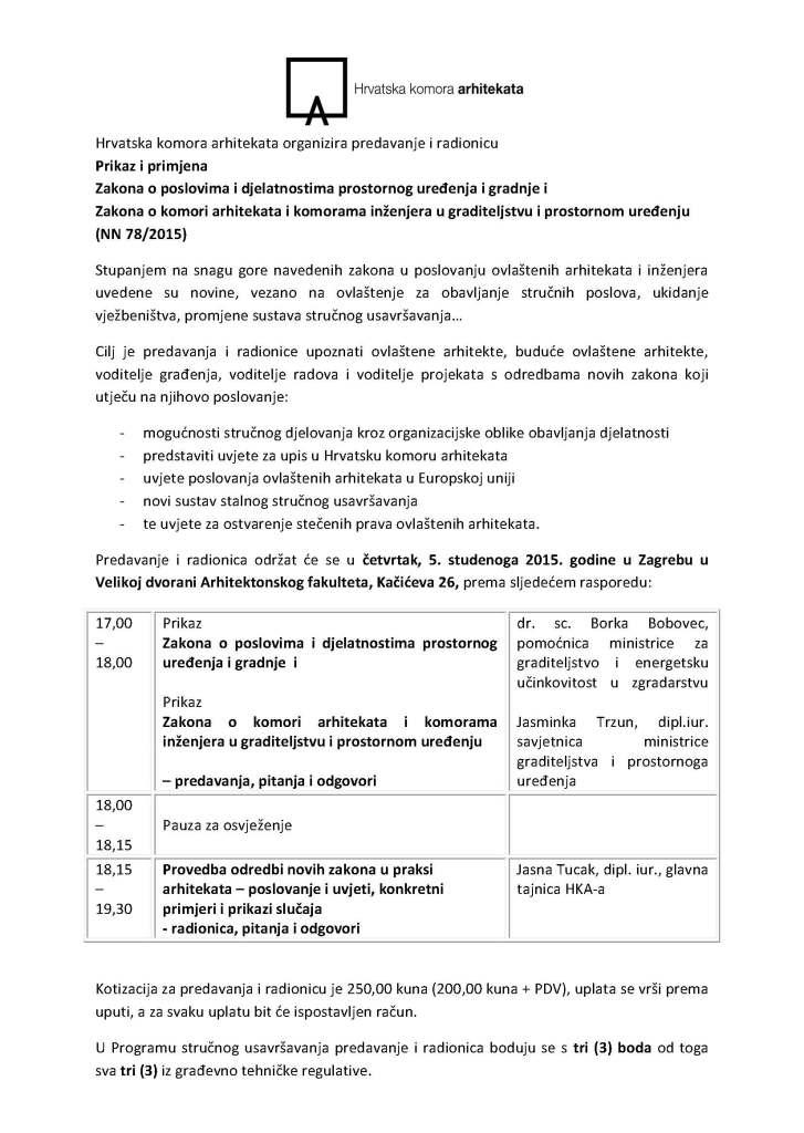 Prikaz i primjena novih zakona_program 1