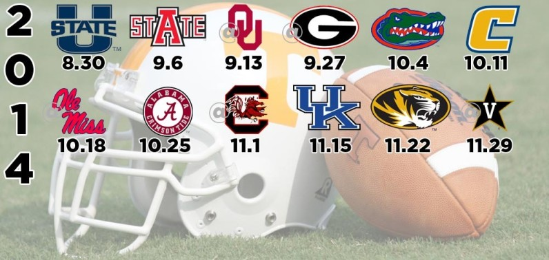 Vols Football Schedule 2014