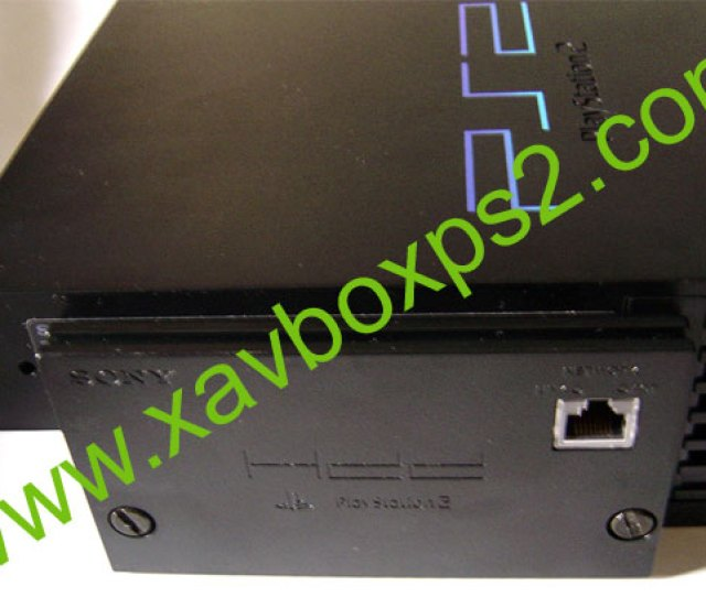 To The Back Of Your Ps2 Then Screw In The Screws On The Back Of The Network Adapter To Secure The Hard Disk Drive And Network Adapter In Place As Shown