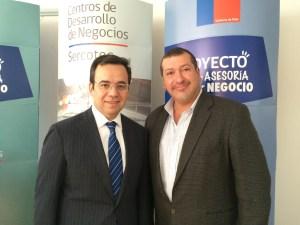 Ministro Luis Felipe Céspedes y Director HDN.cl Miguel González