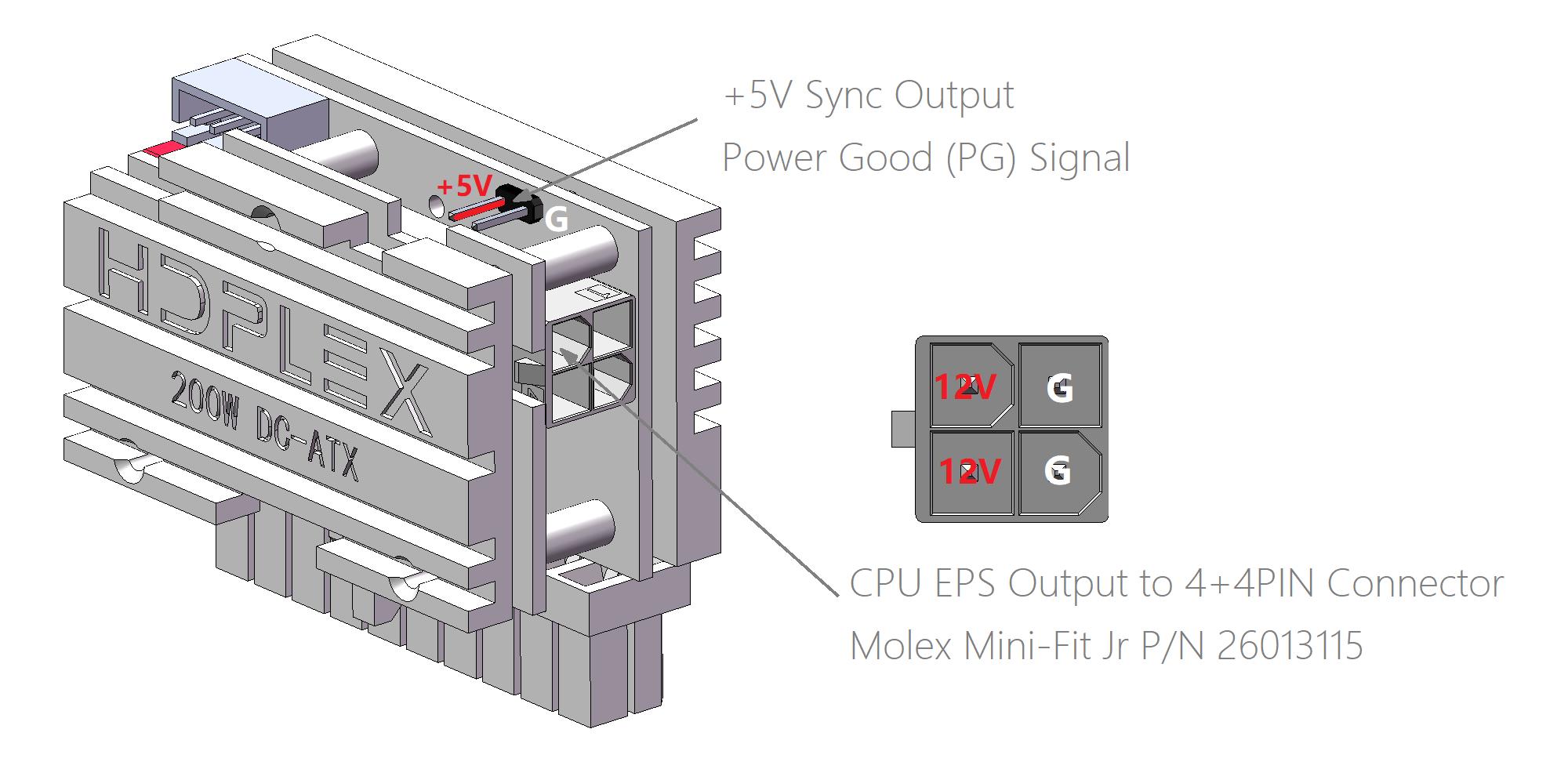 Hdplex Direct Plug 200w Dc Atx Converter