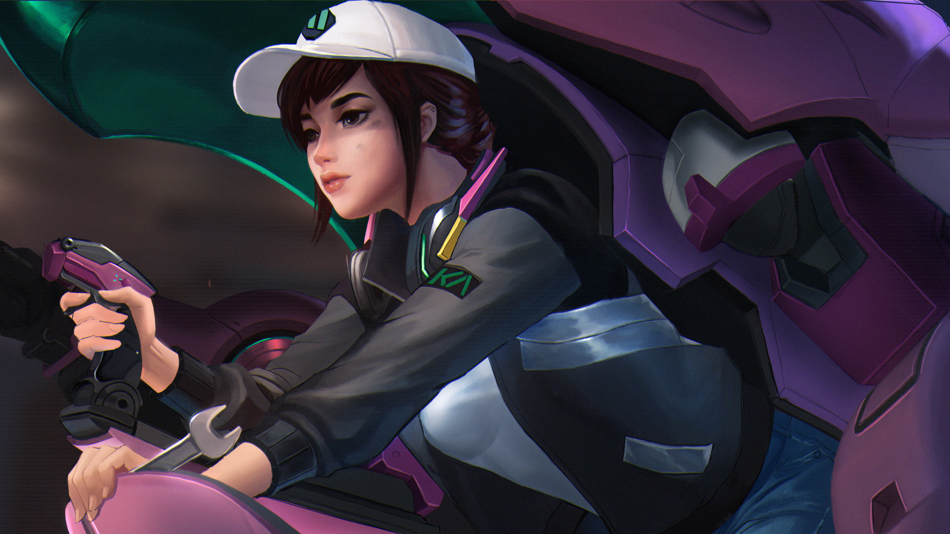 Overwatch Dva Artwork HD HD Games 4k Wallpapers Images Backgrounds Photos And Pictures