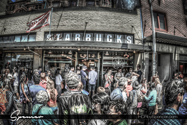 original starbucks, western avenue, pick place market