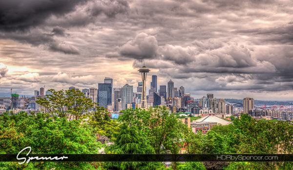 seattle, kerry park, queen anne, seattle cityscape, space needle, downtown seattle