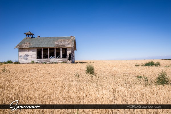before and after, HDR, abandoned, school house, structure, eastern washington, pacific northwest, landscape, farm, wheat field