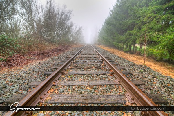 railroad tracks, snohomish, washington, landscape, landscape photography, fine art photography