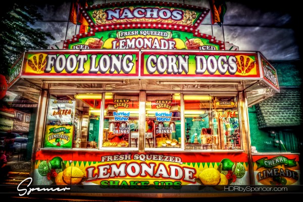Foot Long Corn Dogs at the Carnival