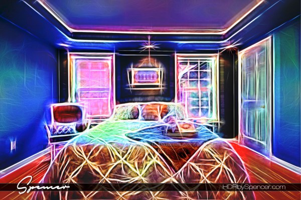 The Master Suite in Neon