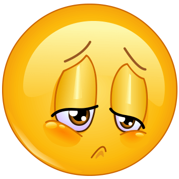 Disappointed, depressed and sad emoticon