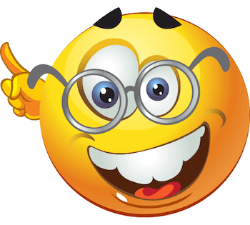 Emoticon with round spectacles