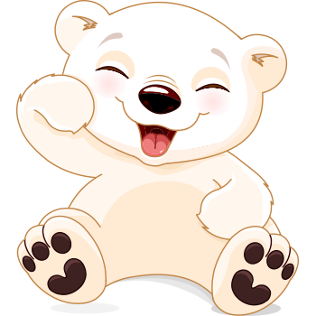 Laughing bear emoticon.