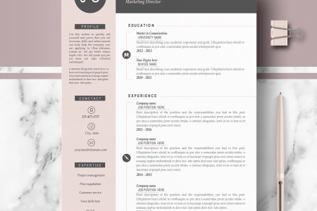 Resume Templates   Hired Design Studio Modern resume template      Professional resume template