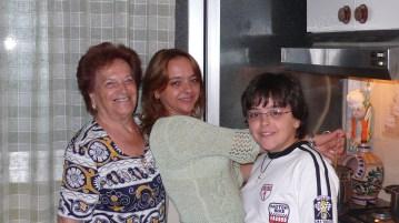 Franca, Sylvia and Dario