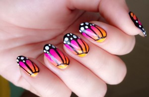 butterfly design nail painting wallpaper