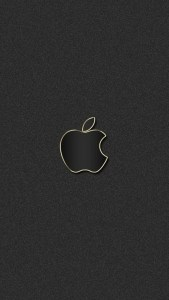 Matte black Apple logo iPhone 6 Wallpapers