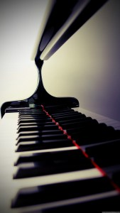 Piano Keys Closeup iPhone 6 Plus HD Wallpaper