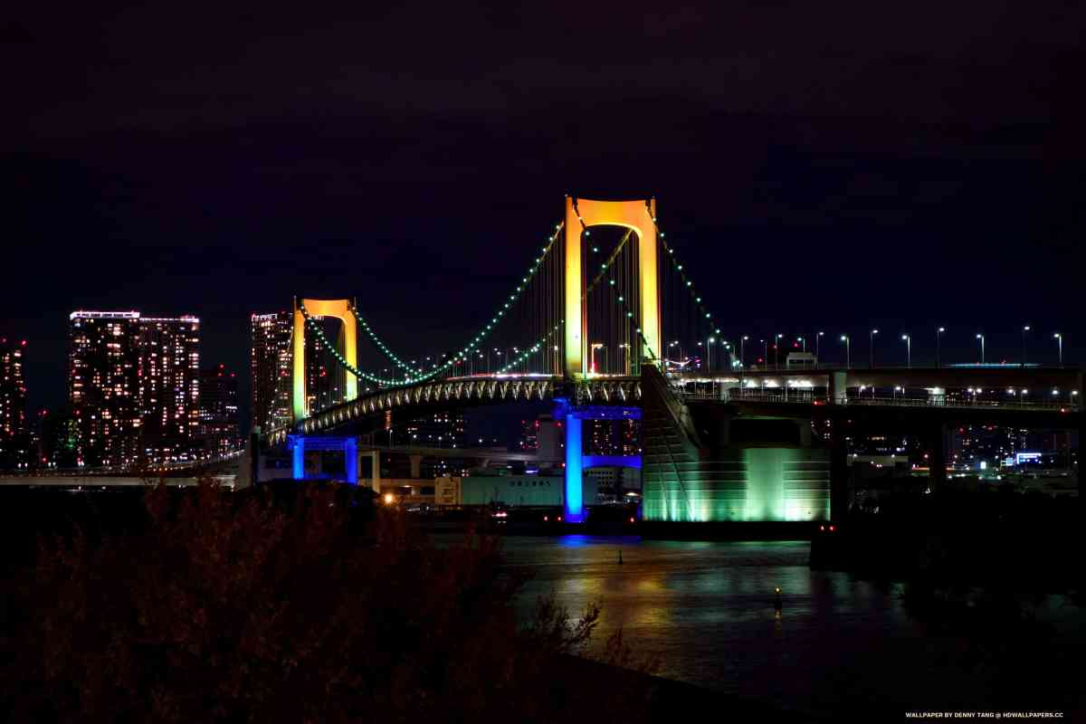 Rainbow Suspension Bridge in Tokyo