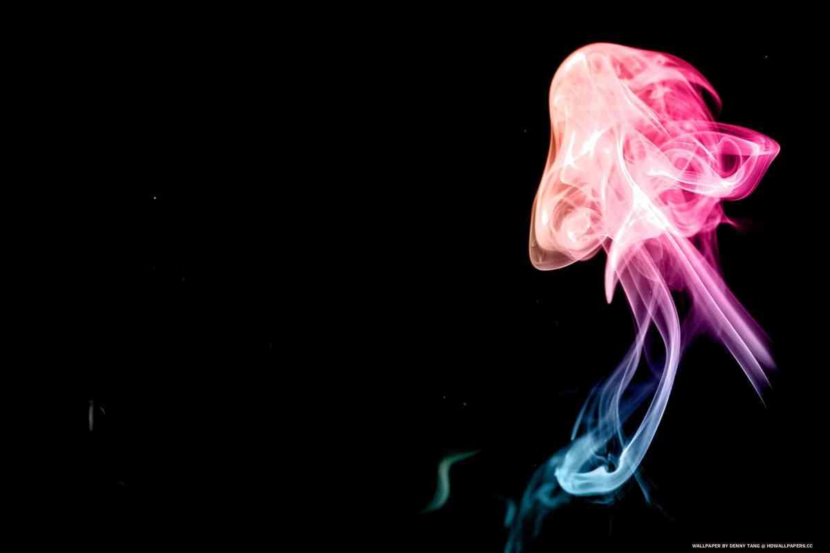 Rainbow Smoke Art 4