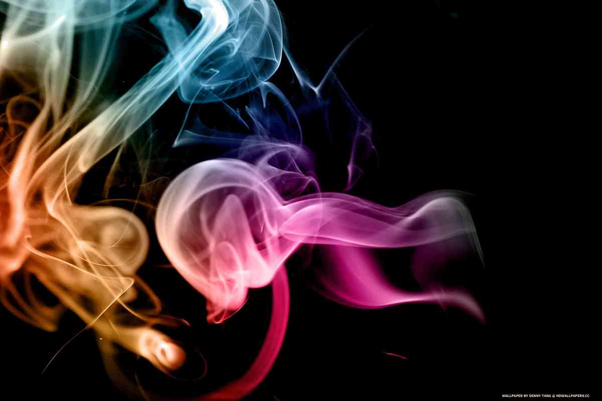 Rainbow Smoke Art 1