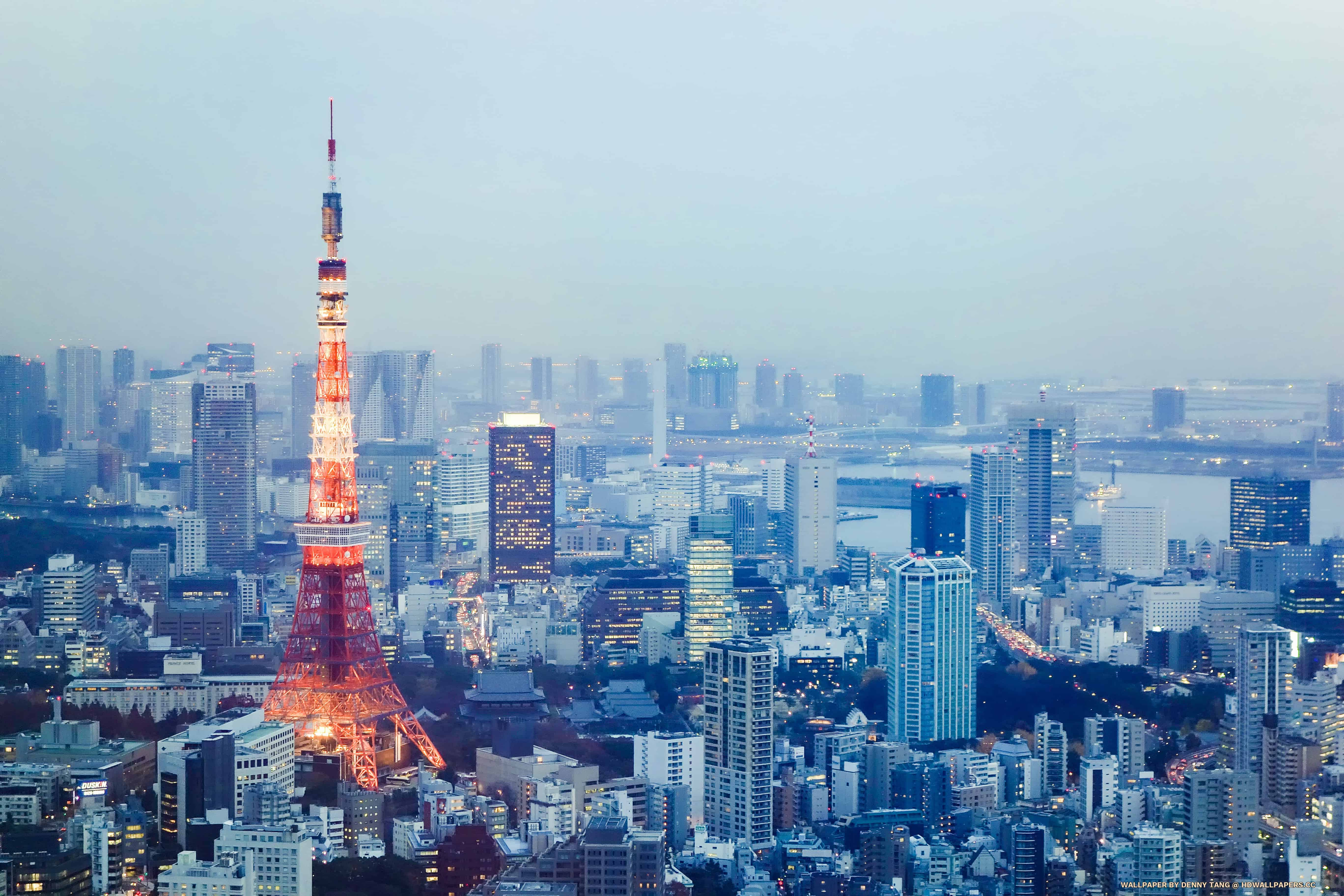 Twilight Tokyo Tower HD Wallpapers