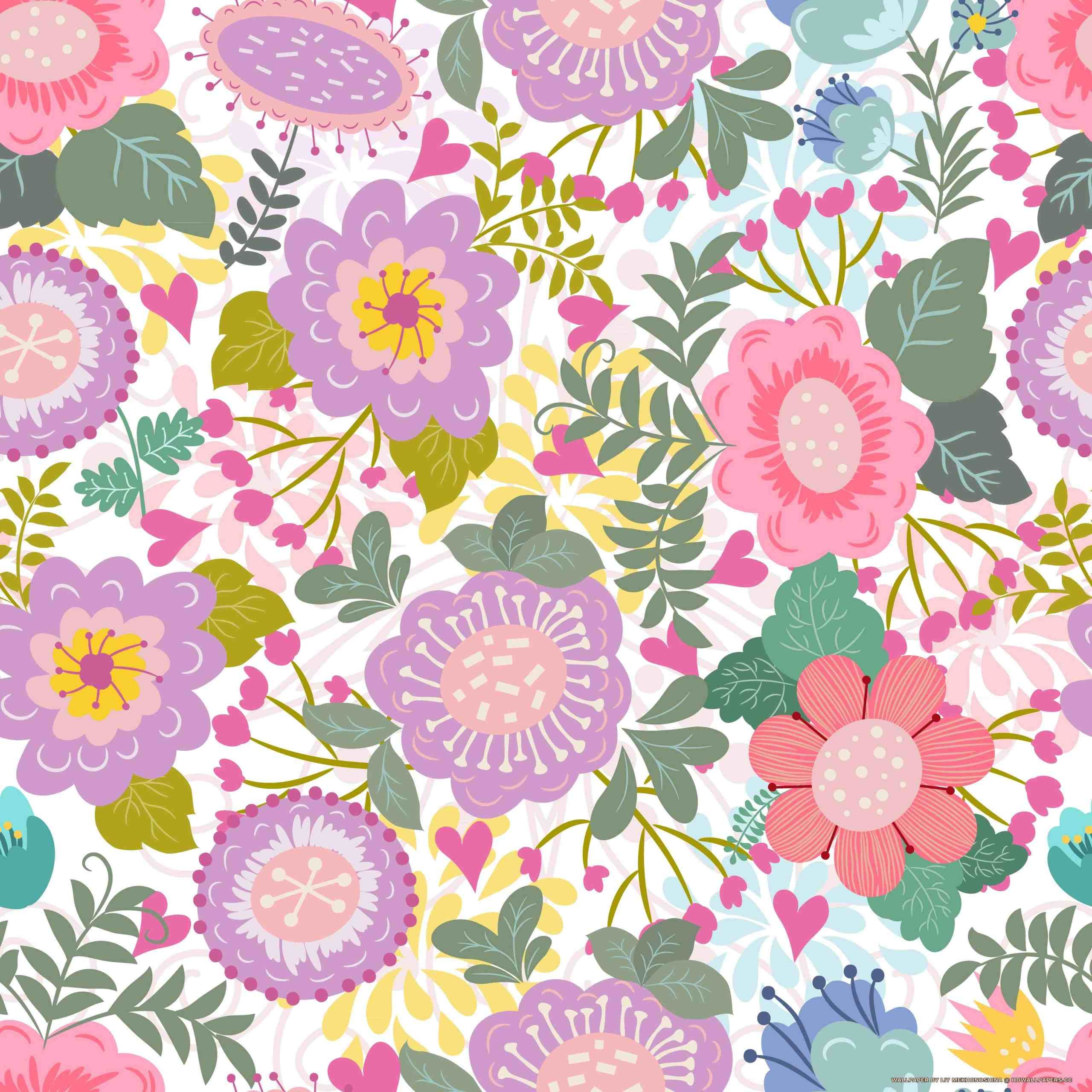Floral seamless pattern - HD Wallpapers