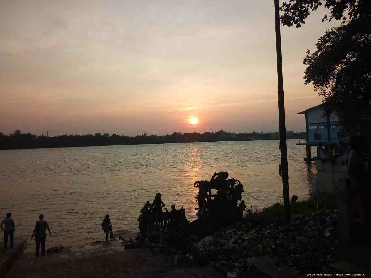 sunset at river ganga