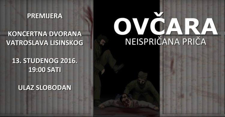 Ovčara - neispričana priča, premijera dokumentarnog filma u KD Vatroslava Lisinskog.