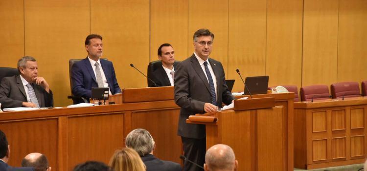 Predsjednik Vlade izložio godišnje izvješće u Hrvatskom saboru