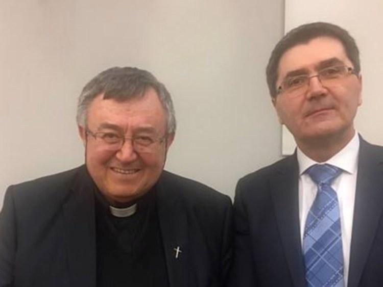 Zoran Piličić i kardinal Vinko Puljić