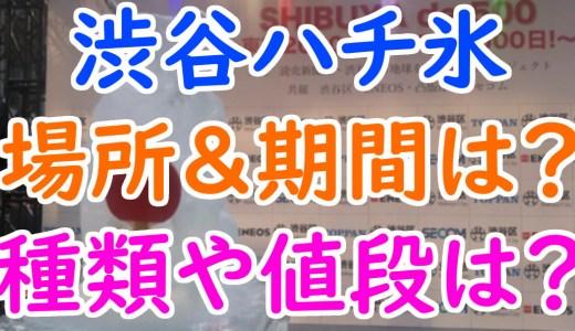 渋谷ハチ氷は渋谷109メンズ館の何階で期間はいつまで?種類や値段も調査!