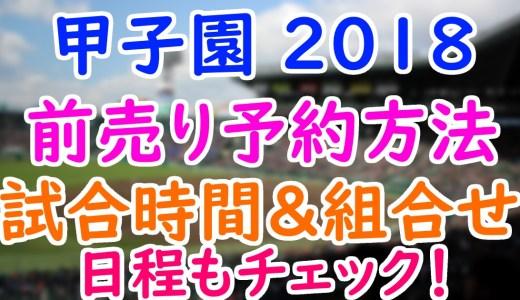 【甲子園2018】夏の日程や前売りチケットの予約方法は?決勝の試合時間や組合せもチェック