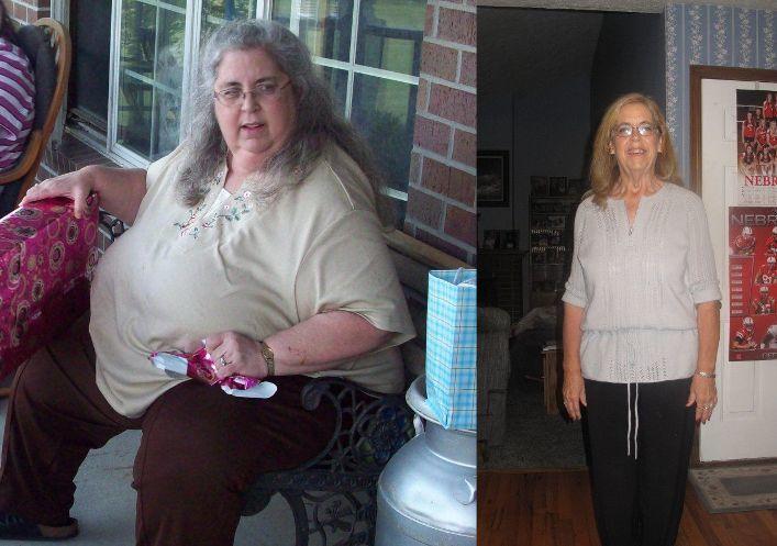 Женщина в 50 лет похудела