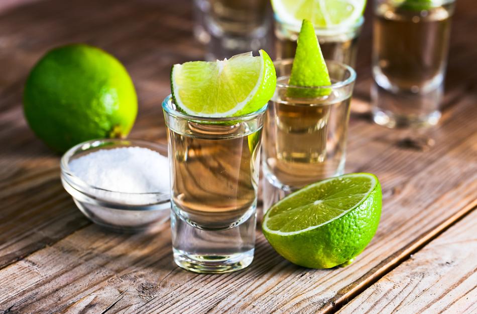 Tequila de vodka ou álcool