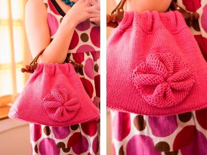 Розовая сумка - схема вязания